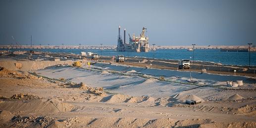 Landaanwinning in Duqm Oman